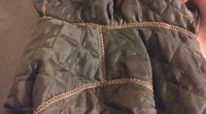 Обработка швов куртки
